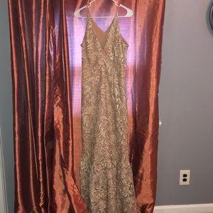 Nude/Tan Lace Dress